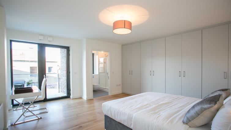 Wardrobe at Spacious bedroom at Hanover Mills Apartments - Citybase Apartments