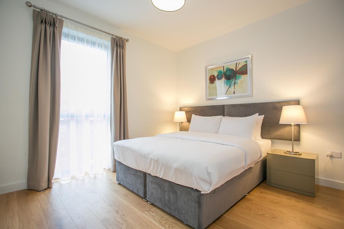 Bed at Hanover Mills Apartments, North Wall, Dublin - Citybase Apartments