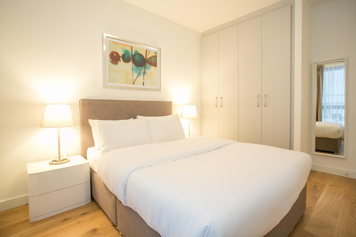 Bed linen at Hanover Mills Apartments, North Wall, Dublin - Citybase Apartments