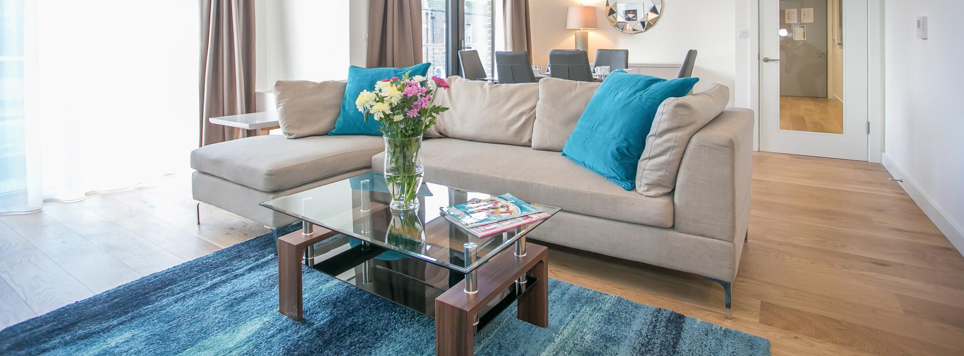 Sofa at Hanover Mills Apartments, North Wall, Dublin - Citybase Apartments