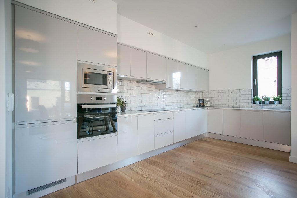 Kitchen at Hanover Mills Apartments, North Wall, Dublin - Citybase Apartments