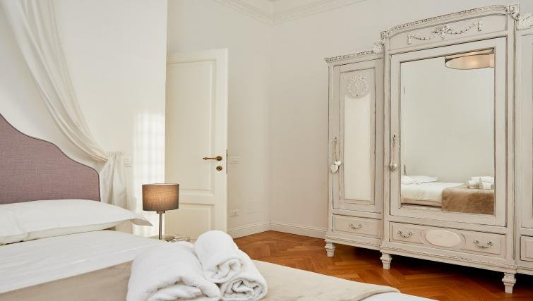 Bedroom decor at the Vallazze Luxury Apartment - Citybase Apartments