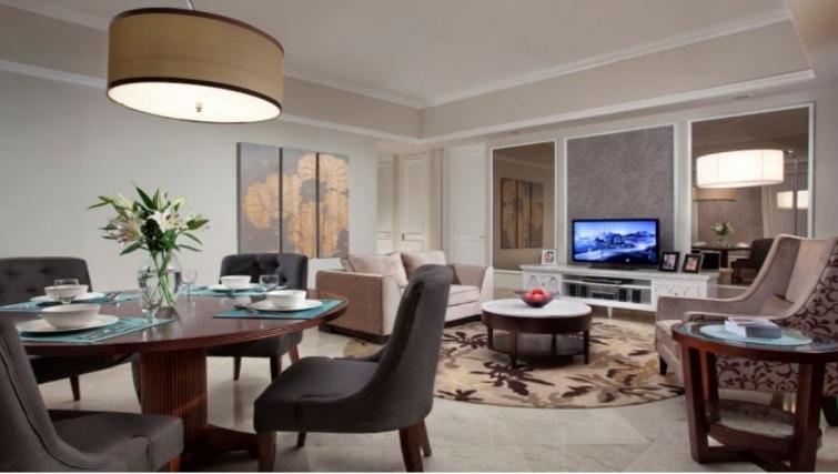 Grand living area in Ascott Jakarta Apartments - Citybase Apartments