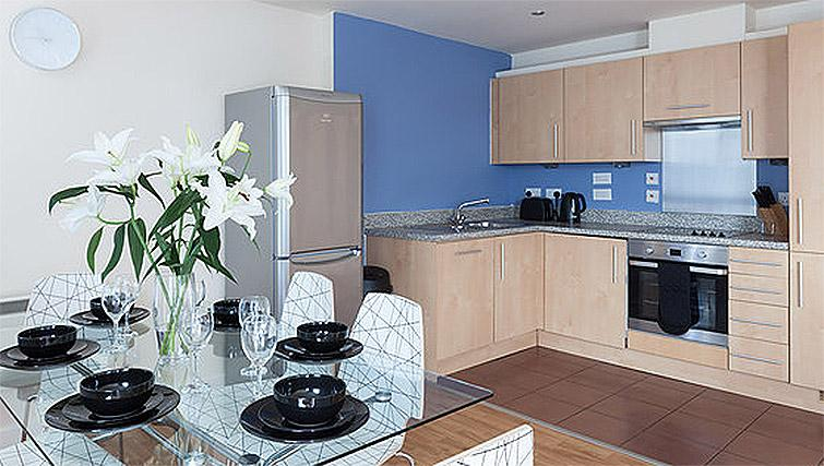 Kitchen at Hicking Dye Works Apartment - Citybase Apartments