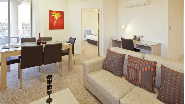 Living room at the Quest South Brisbane - Citybase Apartments