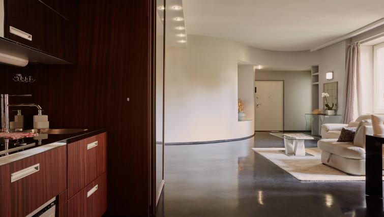 Spacious living area at Turati Apartment - Citybase Apartments