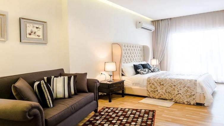 Living area at the Mansion28 Darmawangsa Apartments - Citybase Apartments