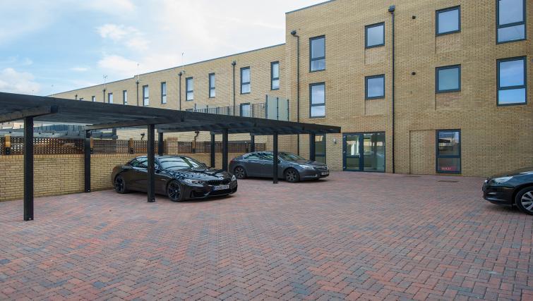 Car park at the De Havilland House Apartments - Citybase Apartments