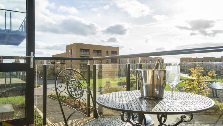 Balcony at the De Havilland House Apartments - Citybase Apartments