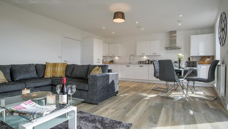 Living area at the De Havilland House Apartments - Citybase Apartments
