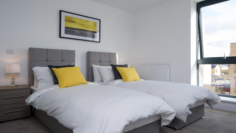 Bed at the De Havilland House Apartments - Citybase Apartments
