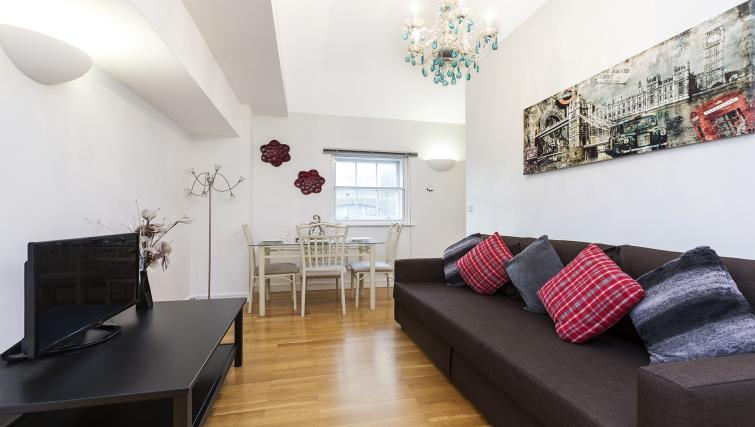 Lounge decor at the Kings Cross Apartment - Citybase Apartments