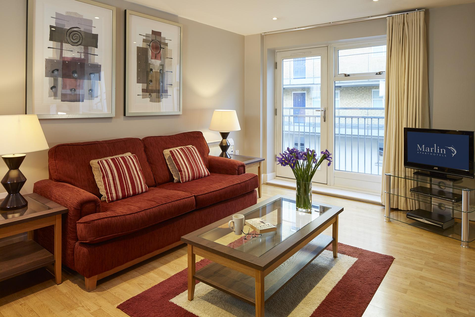 Sofa at Limehouse Apartments, Limehouse, London - Citybase Apartments