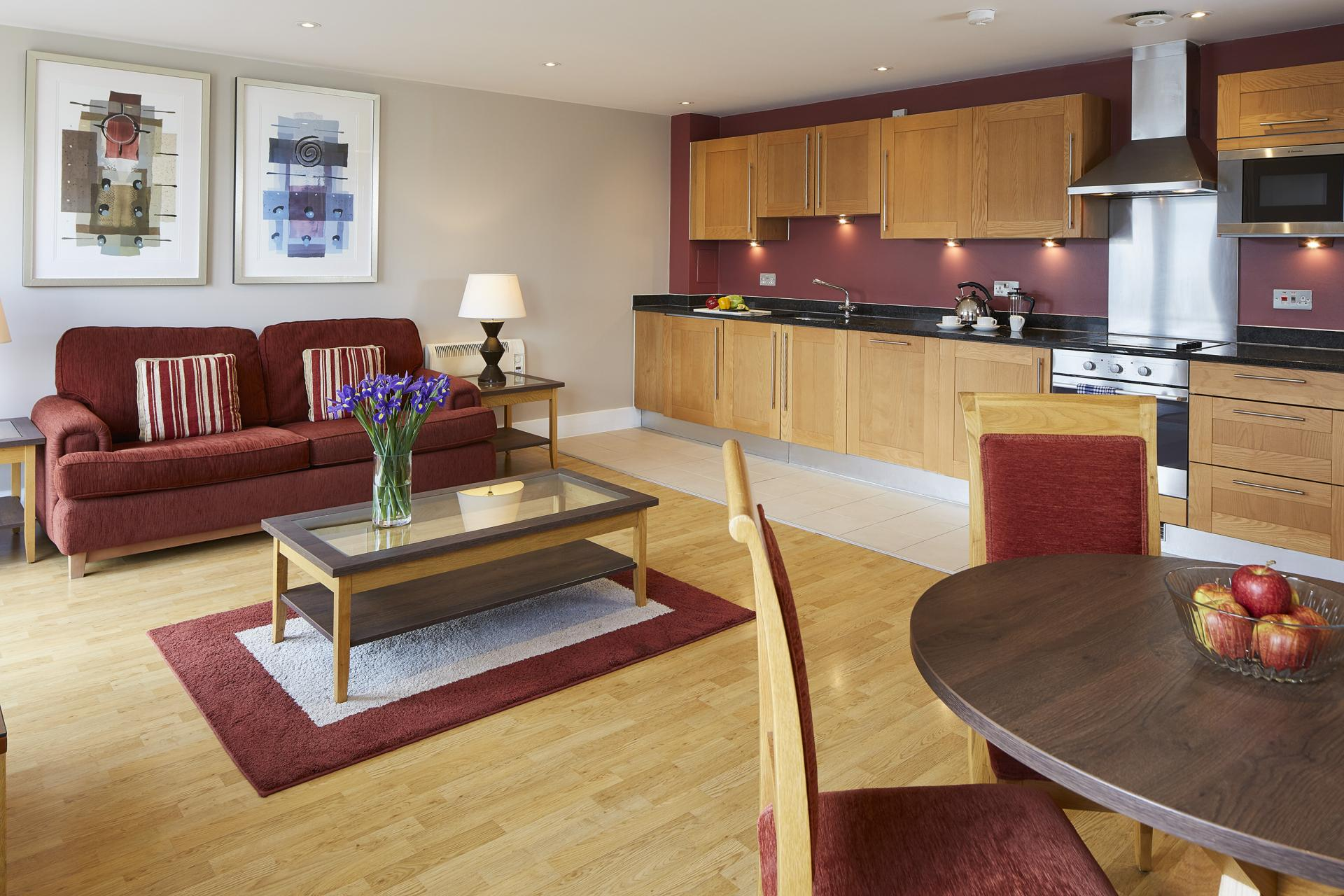 Kitchen diner at Limehouse Apartments, Limehouse, London - Citybase Apartments