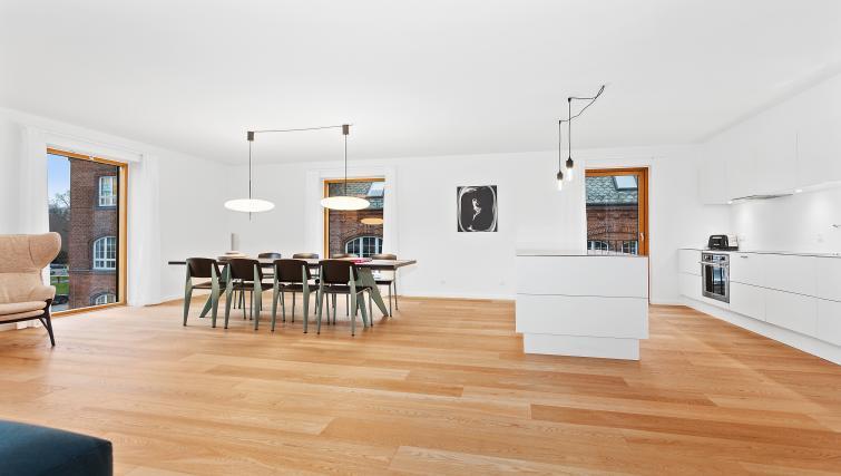 Sleek wooden flooring at the STAY Kastellet Apartments - Citybase Apartments