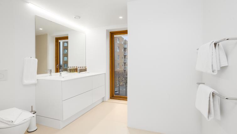 Sleek bedroom at the STAY Kastellet Apartments - Citybase Apartments