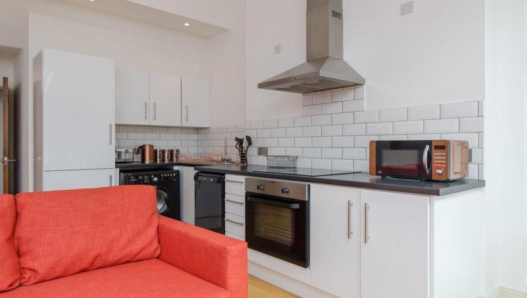 Sleek kitchen at 1 Fitzrovia Apartments - Citybase Apartments