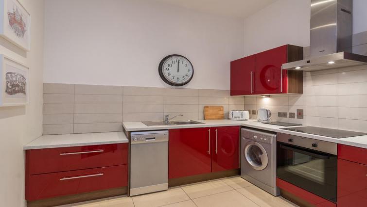 Kitchen at 1 Fitzrovia Apartments - Citybase Apartments