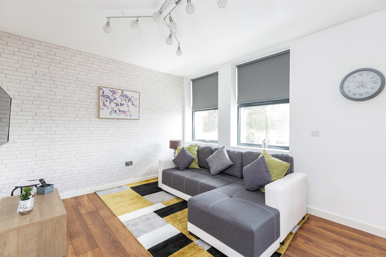 Living room at Manhattan Heights Apartments, Centre, Maidstone - Citybase Apartments