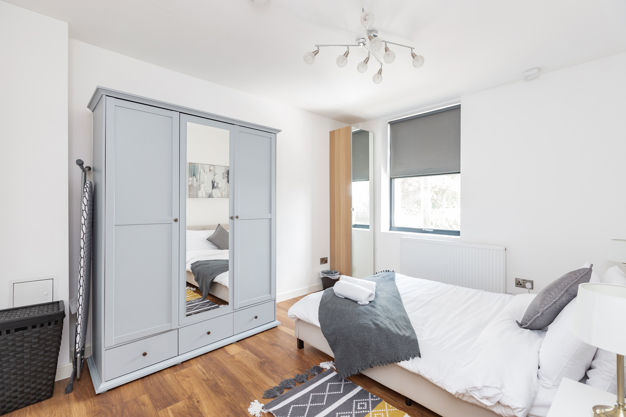 Bedroom at Manhattan Heights Apartments, Centre, Maidstone - Citybase Apartments