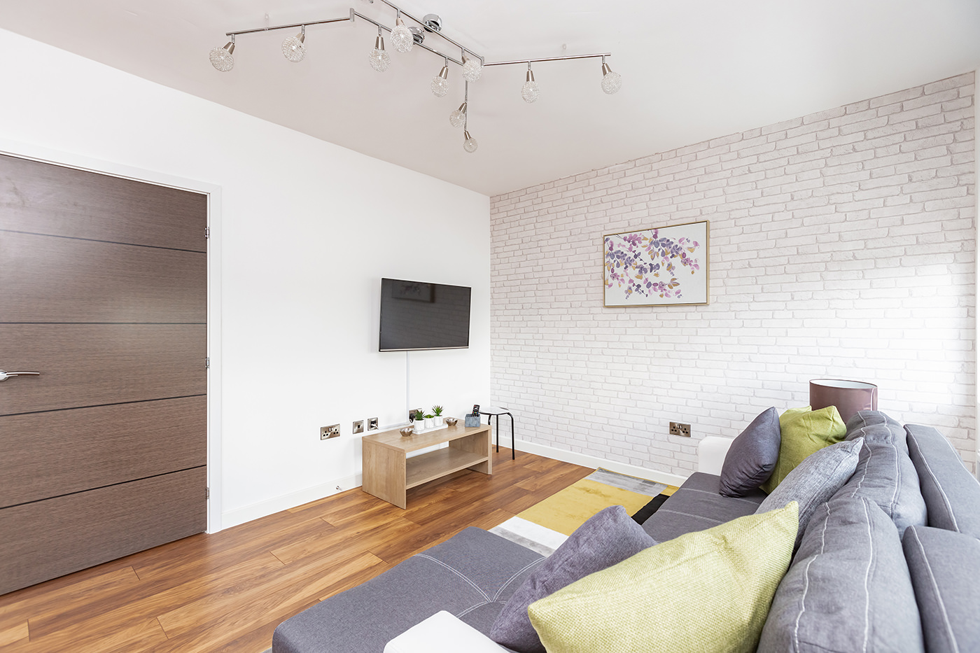 Sofa at Manhattan Heights Apartments, Centre, Maidstone - Citybase Apartments