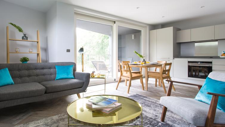 Living/dining area at Alexandra Road Apartments - Citybase Apartments