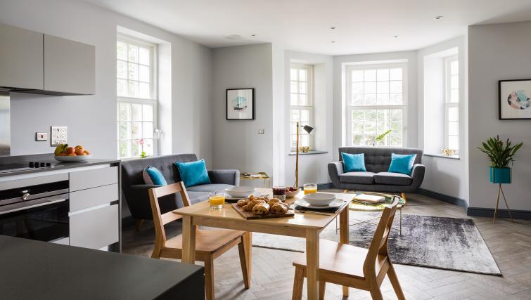 Dining area at Alexandra Road Apartments - Citybase Apartments