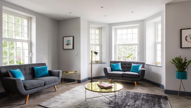 Living area at Alexandra Road Apartments - Citybase Apartments
