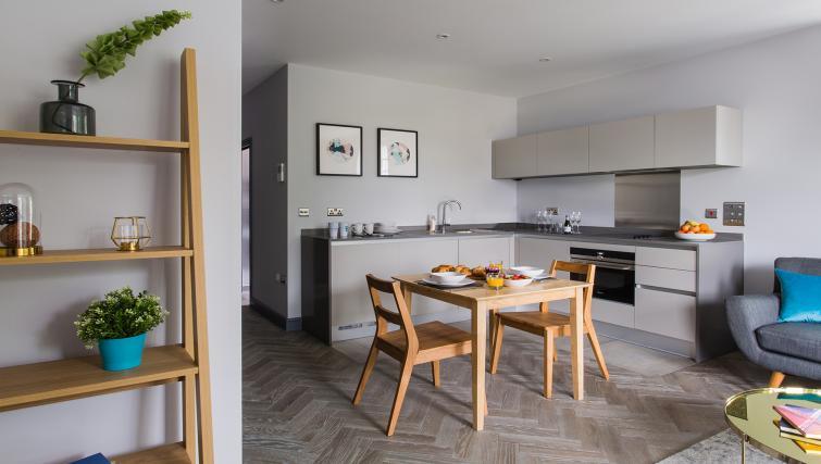 Kitchen/dining area at Alexandra Road Apartments - Citybase Apartments