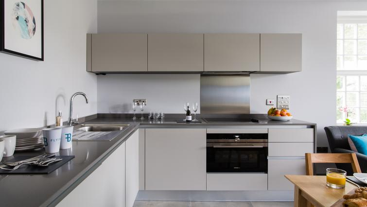 Modern kitchen at Alexandra Road Apartments - Citybase Apartments