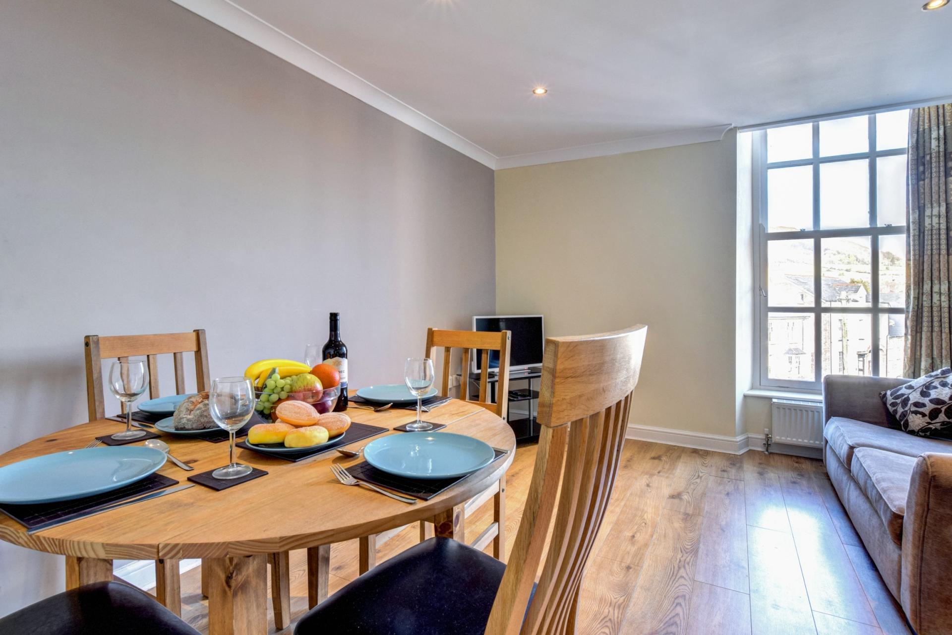 Dining table at Sherlock Holmes Apartments - Citybase Apartments