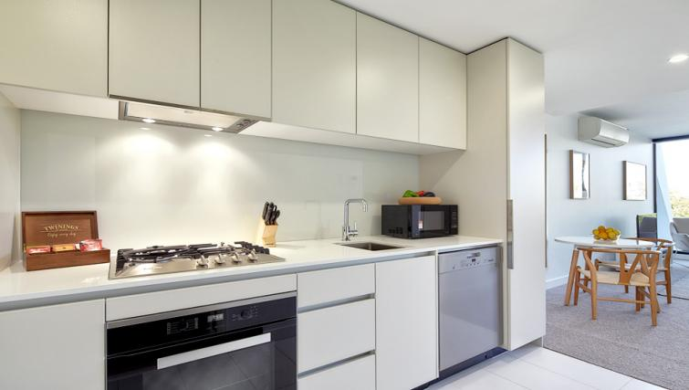 Kitchen at the 381 Cremorne Apartments - Citybase Apartments