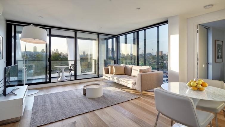 Lounge at the 381 Cremorne Apartments - Citybase Apartments
