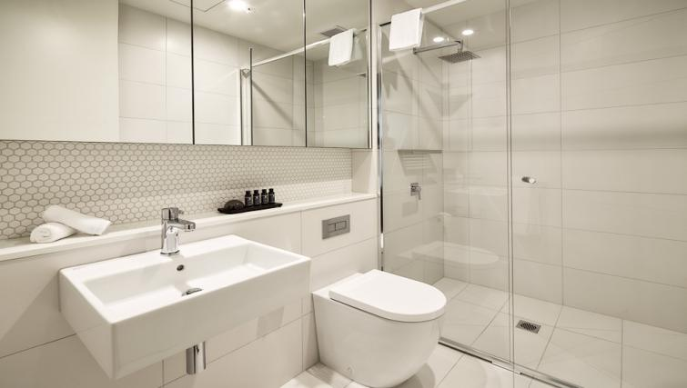 Bathroom at the 381 Cremorne Apartments - Citybase Apartments