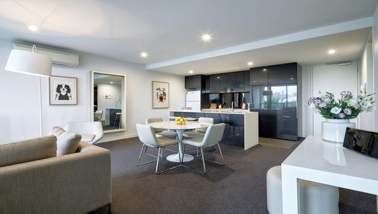 Dining area at the 381 Cremorne Apartments - Citybase Apartments