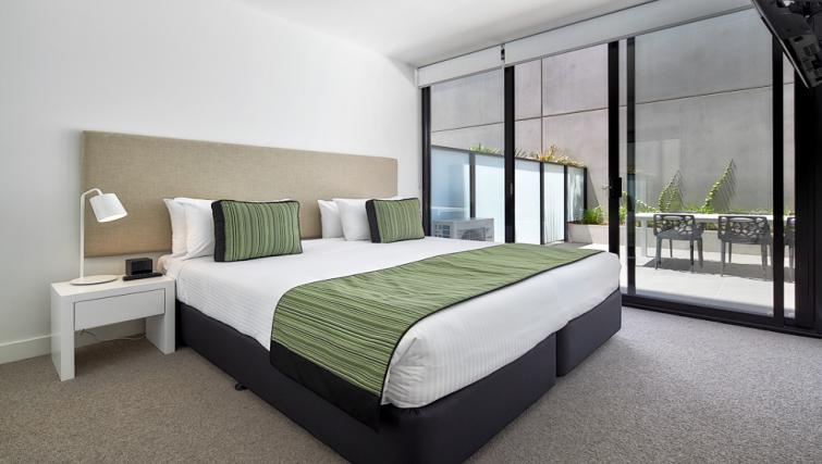 Bedroom at the 381 Cremorne Apartments - Citybase Apartments