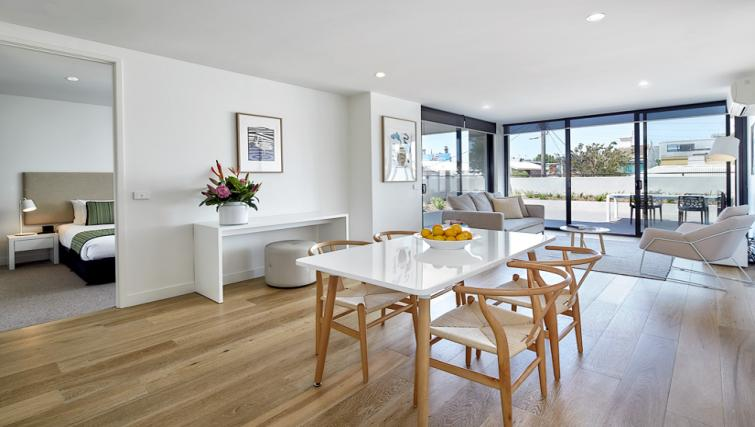 Elegant dining area at the 381 Cremorne Apartments - Citybase Apartments
