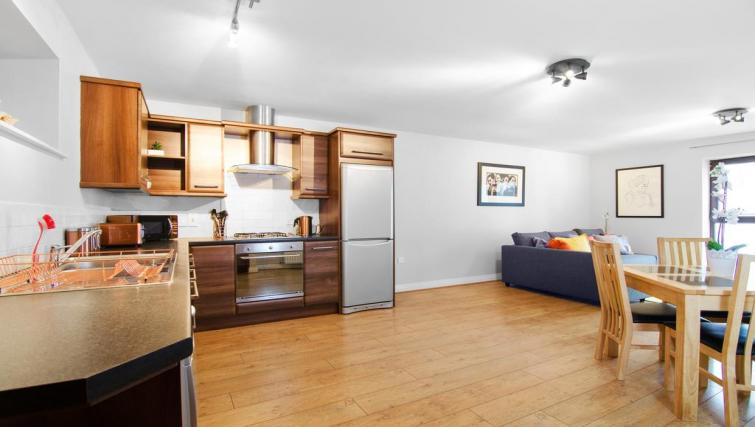 Equipped kitchen at Winter Gardens Apartment - Citybase Apartments