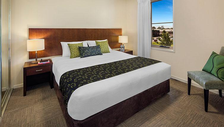 Bedroom at Quest Echuca Apartments - Citybase Apartments