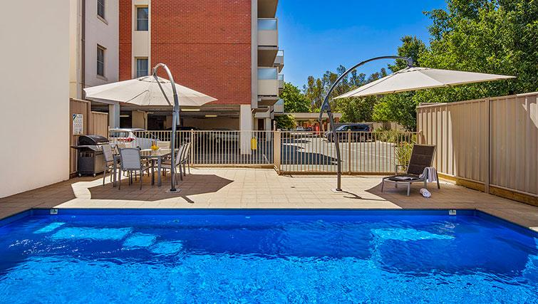 Pool at Quest Echuca Apartments - Citybase Apartments