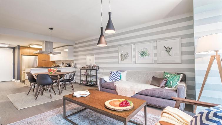 Sofa at MiMa, Hell's Kitchen Apartment - Citybase Apartments