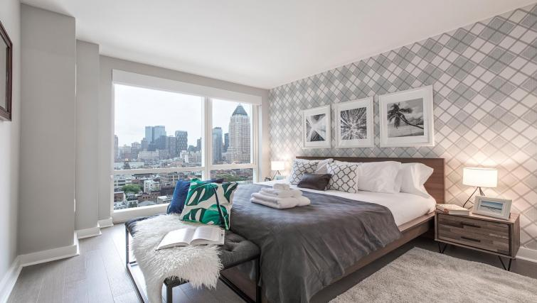 Bedroom at MiMa, Hell's Kitchen Apartment - Citybase Apartments