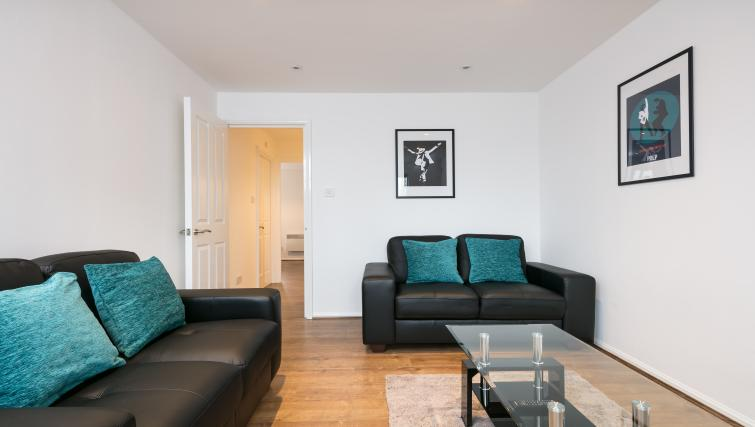 Spacious lounge at The Riverside Apartment - Citybase Apartments