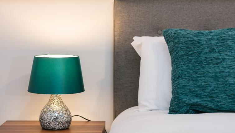 Stylish bedroom at The Riverside Apartment - Citybase Apartments
