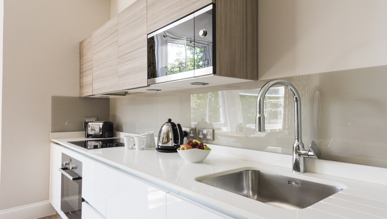 Kitchen at Beech House Serviced Apartments - Citybase Apartments