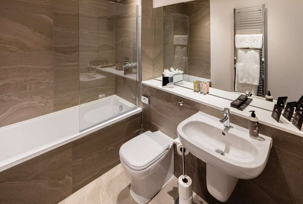 Bathroom at  Beech House Serviced Apartments - Citybase Apartments