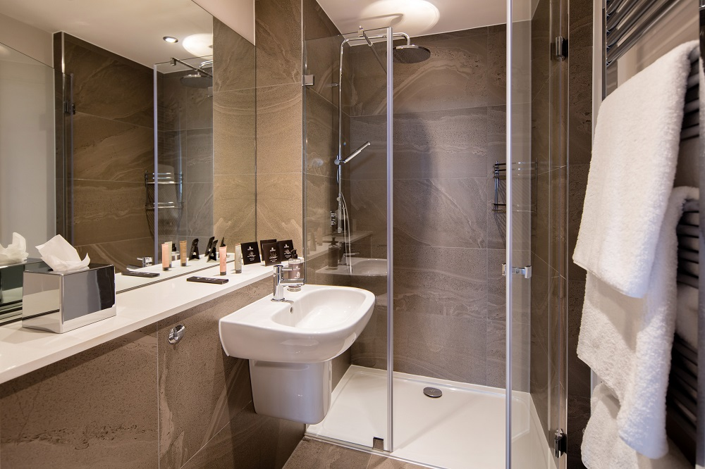 Shower at  Beech House Serviced Apartments - Citybase Apartments