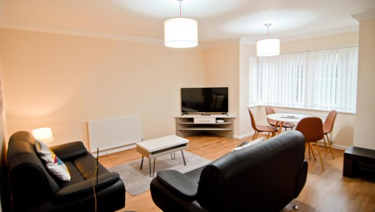 Living area at Room and Roof Southampton Apartments - Citybase Apartments