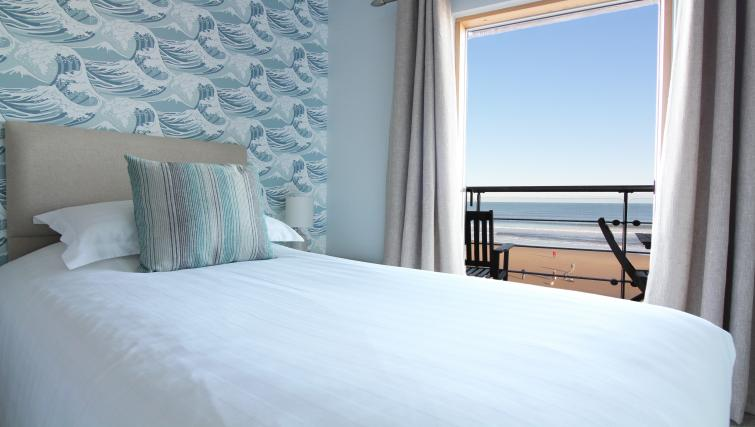 Bedding at the The Sands Sea Front Apartments - Citybase Apartments