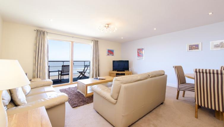 Lounge at the The Sands Sea Front Apartments - Citybase Apartments